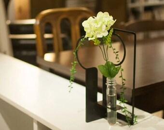 Tai Chi Test Tube Vase, iron, decor, flower, green, gift, creative, housewares