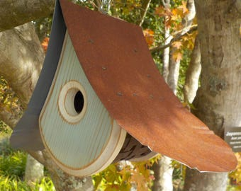 HAINT BLUE BIRDHOUSE / Outdoor Birdhouse / Hand Crafted Birdhouses