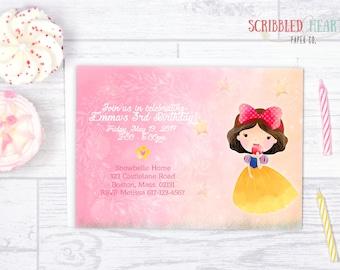 snow white . birthday invitation { digital }