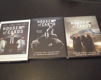 House of cards seasons 1,2 and 3 dvd