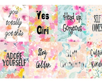 Yes Girl, Planner Quote Boxes, full box, happy planner, erin condren, matte, gloss,y weekly planner sticker kits