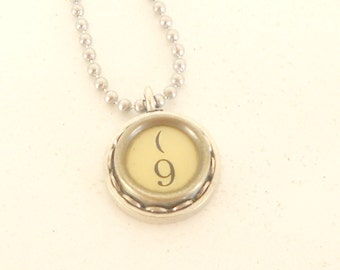 Typewriter Key Necklace - Numbers 2-9 - Vintage - Industrial Jewelry - Recycled Jewelry
