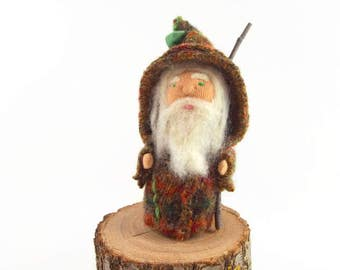 Woodland gnome, waldorf toy, nature table toy, bearded man