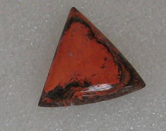 Lebendige Orange und schwarz Stein dreieckigen Cabochon 25mm