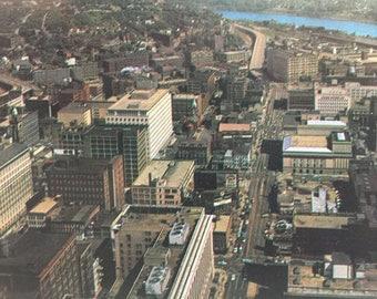 Vintage Postcard Cincinnati Ohio Aerial View Chrome Postcard