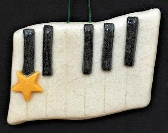 Salt Dough Piano/Keyboard Personalized Ornament