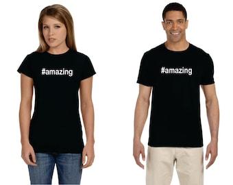 Hashtag Amazing #amazing Adult Birthday Shirt