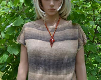 hand knitted cotton top