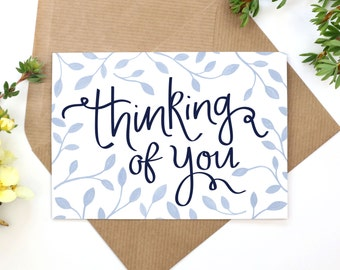 Thinking of You Hand Illustrated A6 Greeting Card