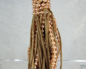 Tan champagne Vintage tassel pendant supply