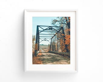"landscape wall art, landscape photography, landscape prints, industrial decor, bridge, large art, large wall art, rustic - ""Over and Again"""