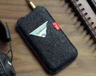 Samsung Galaxy S8 wallet case, cover, felt, 100% wool felt -SHETLAND- SH-G5-A