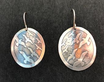 Sterling Silver Flock Earrings
