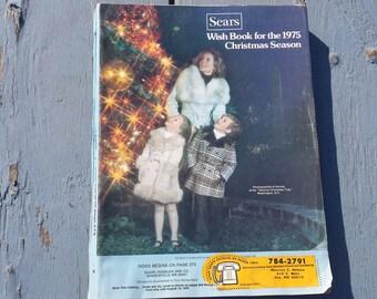 1975 Sears Wish Book Christmas Season Catalog Magazine Games Toys Bikes