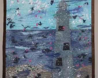 Fading Seaside Memories - Quilt Art