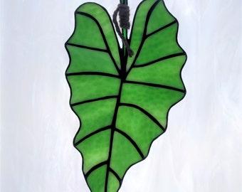 Stained Glass Elephant Ear Leaf (#289)