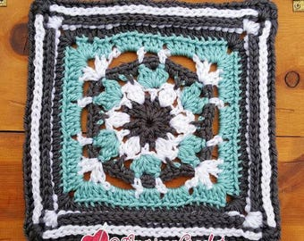 Carolyn Circle in A Square Crochet Pattern