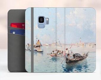 "Unterberger ""View to Saint Marks Square"" Samsung Galaxy S9 folio case iPhone 7 folio case Galaxy S8 Plus folio Phone cover. WC-FUN-01"