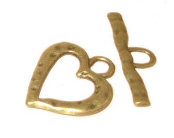 24 x 22mm Antique Gold Toggle Clasp