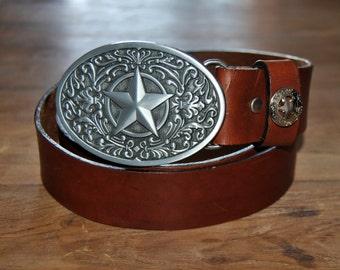 Leather belt handmade. belt