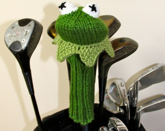 Knit PATTERN Kermit the Frog Muppet Golf Club Cover PDF