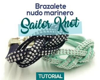 DIY Brazalete Nudo Marinero Sailor Knot Ebook PDF con Video Tutorial