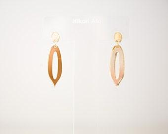 Gold Mirror Acrylic Drop Earrings