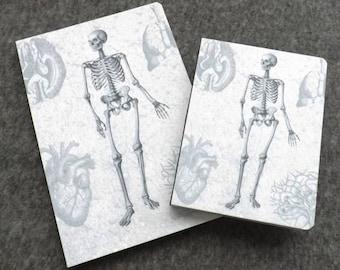 Felt Notebook Anatomy Gift medical school graduation skeleton doctor office male nurse artist sketch book memo pad notepad journal note goth