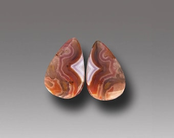 Agua Nueva Agate Cabochon Natural Stone Cabs Pair