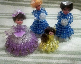Beaded Vintage Pin Dolly Lot