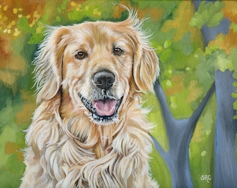 Custom Portrait, Custom Dog Painting, size 8 x 10