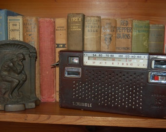 Vintage Transistor Radio Vintage Siminole Radio 2 Band Radio Leather wrapped radio. Vintage Radio