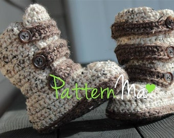 Crochet Strappy Toddler Boots Pattern #12
