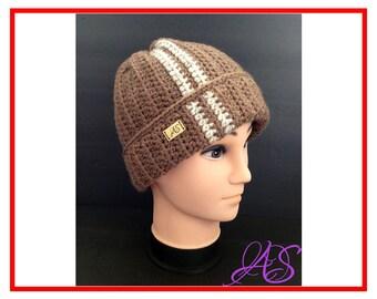 Bulky Hat Crochet Pattern - Bulky Beanie Hat Crochet Pattern for Men - Instant Download PDF Hat Crochet Pattern