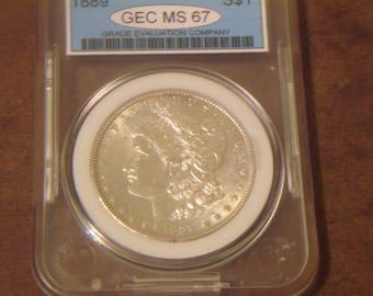 MS67 1889 P Morgan Silver Dollar