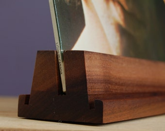 Beautiful Walnut LP Holder - Record Stand - Vinyl Hold - Beeswax Finish -Play and Display