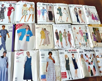 Plus Size Sewing Patterns 18 Sewing Patterns Simplicity, Butterick, McCall's Destash Lot B  Sizes 8 to 24 Multi-Sized