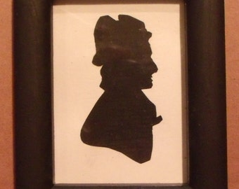 Silhouette Portrait of Lady in Miniature