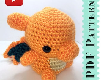 Charizard Amigurumi Crochet Tutorial Companion Pattern