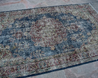 Oushak Rug, Oushak Rugs, Vintage Turkish Rugs, Decorative Oushak Rug, Oushak Saloon Rug, Old Turkish  Rug, Distressed Low Pile Rugs 4'10x8'1