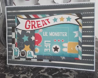 """Card """"Great (lil' monster)"""""""