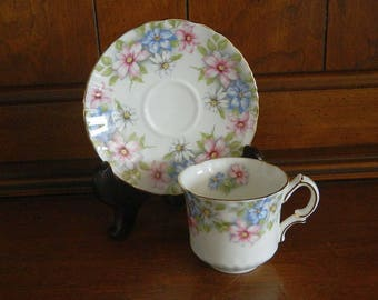 Oakley Tea Cup and Saucer - Fine Bone China