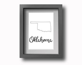 PRINTABLE Oklahoma Wall Art!