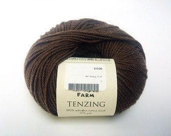 Brown wool yarn - destash - wool yarn - Free shipping