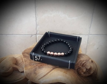 Black rose gemstone bracelet