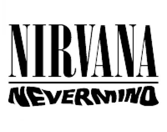 Nirvana Nevermind Vinyl Cut Sticker Decal