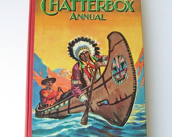 Chatterbox Annual children's book, kid's activity book, story book, games book, puzzle book, 1953 kid's book