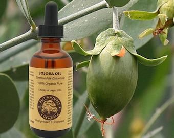 100% Pure Organic Virgin Jojoba Oil. Natural Moisturizer for skin and hair.