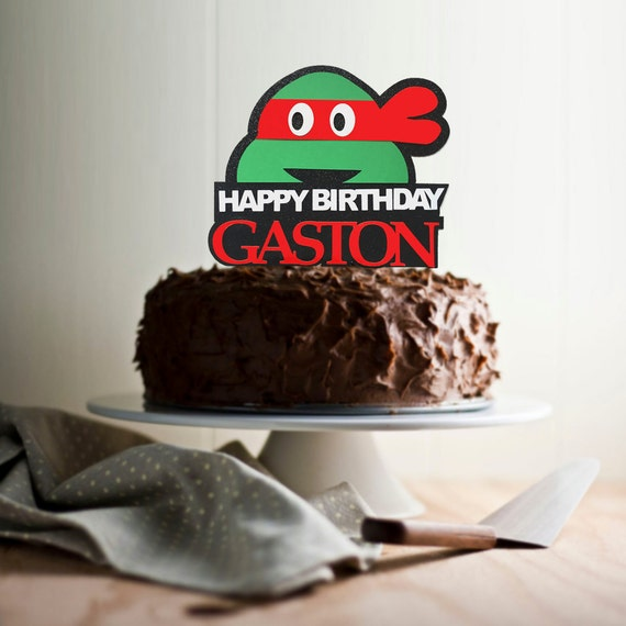 Teenage Mutant Ninja Turtles Cake Topper Personalized Name