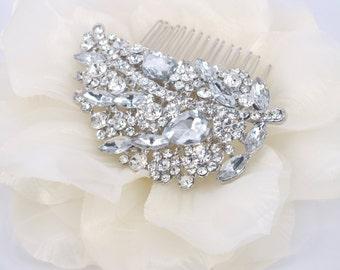 Leaf of Eden - Austrian Rhinestone Bridal comb